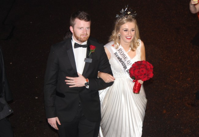 Rose of Tralee 2015, Elysha Brennan, with the Escort of the Year, Tralee man, Shane Kenny. Photo by Gavin O'Connor.