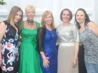 At Kerryman Rose of Tralee Fashion Show were, from left: Natasha Simper, Faislinn Ni Mhanach, Majella McElhatton, Mary Barrett and Sarah Peck. Photo by Gavin O'Connor.