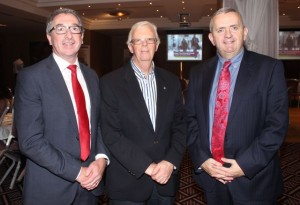 Joe Shannon, Branch Manager AIB Tralee, Niall Hanbidge, Tralee Nursery Supplies and Aidan Andrews, Regional SME Manager AIB, at the AIB Lunchtime Seminar for the Retail Sector in the Fels Point Hotel on Friday. Photo by Dermot Crean
