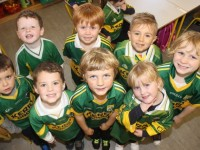 Junior Infant students in Blennerville National School were, from left, front: Dara Cronin, Callum Flynn, Rian Flynn and Ruby Foley. Back: Jake Moriarty Kelly, Barry O'Sullivan, Wiktor Kopec and Rory O'Brien Photo by Gavin O'Connor.