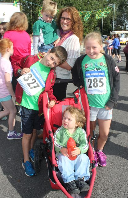 Olive, Charlie, Ben, Ciara and Fionn Sharp at the CBS 5k and 3k Fun Run at the school on Sunday. Photo by Dermot Crean