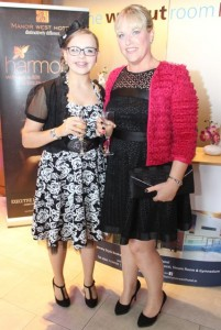 Allanna and Louise Collins at the Fashion Soiree in the Manor West Hotel on Friday night. Photo by Dermot Crean