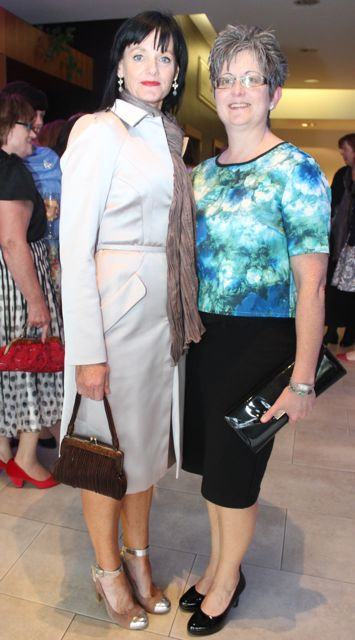 Mary Lucey and Breda Dyland at the Fashion Soiree in the Manor West Hotel on Friday night. Photo by Dermot Crean