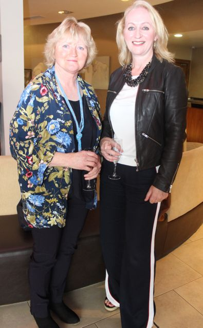 Marian O'Connor and Rosaleen Cusack at the Fashion Soiree in the Manor West Hotel on Friday night. Photo by Dermot Crean