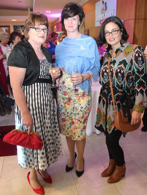 Margaret and Tara Donoghue and Cathy Troth, at the Fashion Soiree in the Manor West Hotel on Friday night. Photo by Dermot Crean