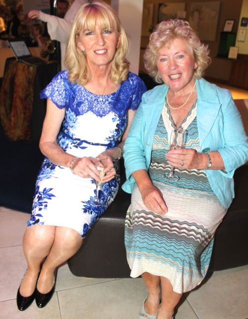 Nora Teahon and Mary Hopkin at the Fashion Soiree in the Manor West Hotel on Friday night. Photo by Dermot Crean