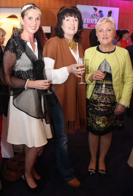 Yvonne Quill, Gerardine Gardezi and Mary McCaffrey at the Fashion Soiree in the Manor West Hotel on Friday night. Photo by Dermot Crean
