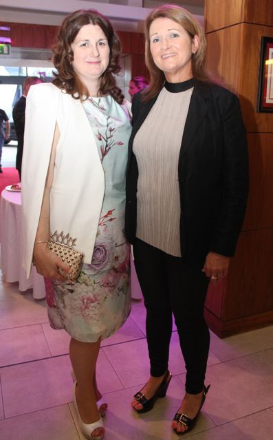 Ann Leane and Siobhan Colbert at the Fashion Soiree in the Manor West Hotel on Friday night. Photo by Dermot Crean
