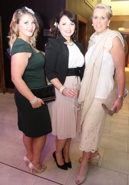 Jade Cuthbert, Mary Helly and Lisa Martin at the Fashion Soiree in the Manor West Hotel on Friday night. Photo by Dermot Crean