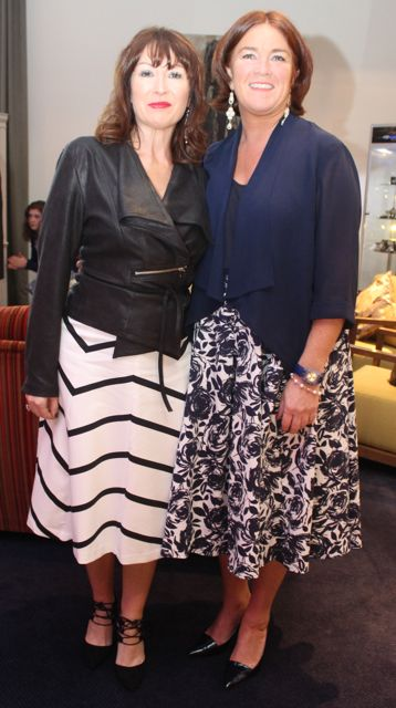 Helen O'Carroll and Grace O'Donnell at the Fashion Soiree in the Manor West Hotel on Friday night. Photo by Dermot Crean