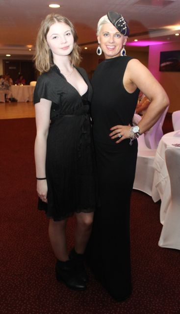 Zoe O'Connor and MC for the evening Orlagh Winters at the Fashion Soiree in the Manor West Hotel on Friday night. Photo by Dermot Crean
