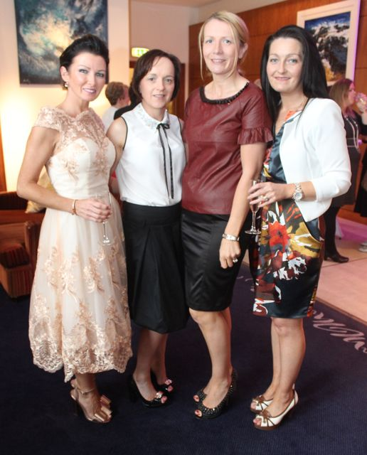 Mary Woulfe, Athea, Marie O'Connor and Jean Leahy, Abbeyfeale and Lily Somers, Athea, at the Fashion Soiree in the Manor West Hotel on Friday night. Photo by Dermot Crean