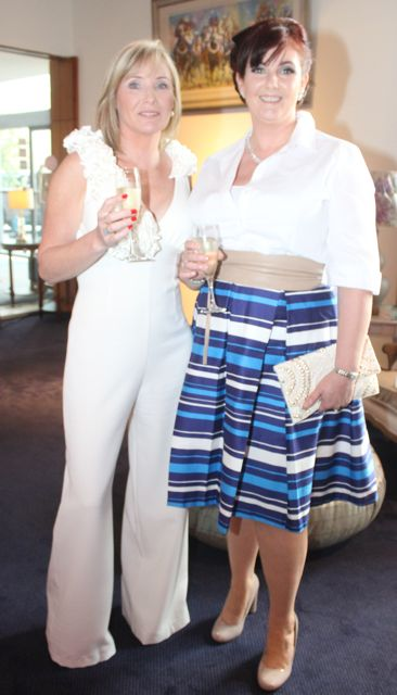 Mary Ellen Flynn and Frances Harty, Castlegregory, at the Fashion Soiree in the Manor West Hotel on Friday night. Photo by Dermot Crean