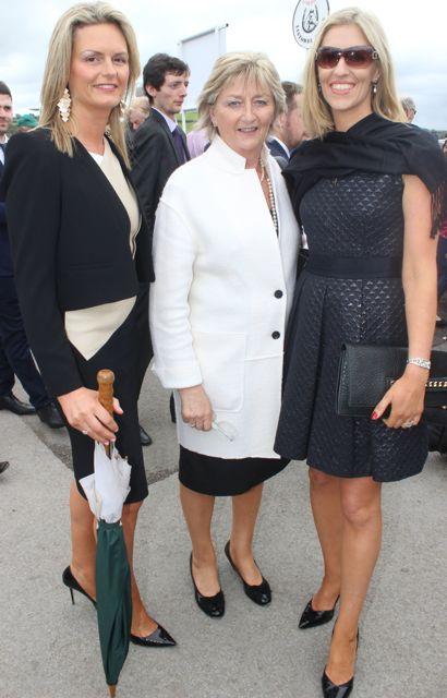Oliva McDonagh, Mary English and Sheila English, enjoying Ladies Day at Listowel Races on Friday. Photo by Dermot Crean