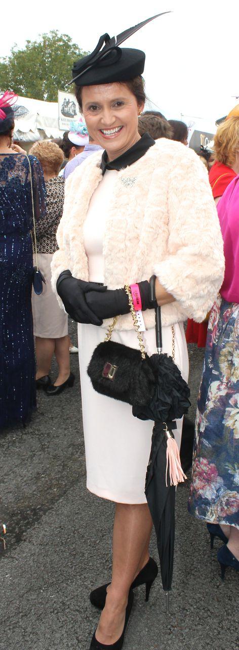 Deirdre O'Sullivan, Listowel, enjoying Ladies Day at Listowel Races on Friday. Photo by Dermot Crean