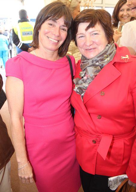 Tara Moran and Mary Breen, Ballybunion, enjoying Ladies Day at Listowel Races on Friday. Photo by Dermot Crean