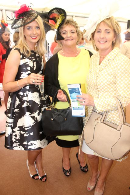 Ita Walsh, Brid Griffin and Helen O'Connell, Ballybunion and Moyvane, and enjoying Ladies Day at Listowel Races on Friday. Photo by Dermot Crean