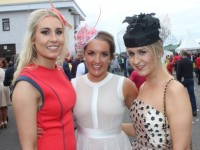 Shauna Lynch, Elaine Maguire and Jennifer Kennelly, Listowel enjoying Ladies Day at Listowel Races on Friday. Photo by Dermot Crean