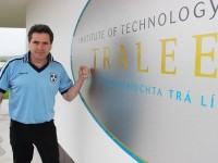 Marcus Howlett, in the IT Tralee North Campus wearing the colours with pride. Photo by Gavin O'Connor.
