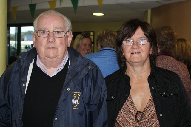Mick Kelliher and Helen Duggan enjoy the Mitchels GAA Club night at the dogs on Saturday night. Photo by Fergus Dennehy.