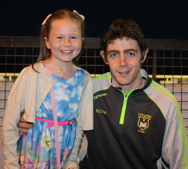 Ella O'Sullivan and Brendan O'Mahony enjoy the Mitchels GAA Club night at the dogs on Saturday night. Photo by Fergus Dennehy.