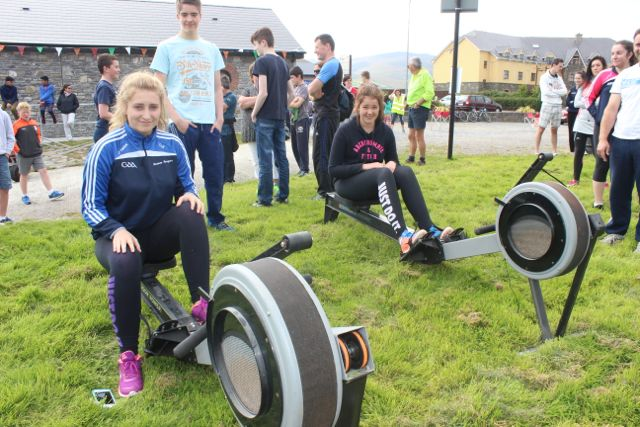 Lea Turner and Poppy Hillis at the Tralee Rowing Club Open Day on Sunday. Photo by Dermot Crean