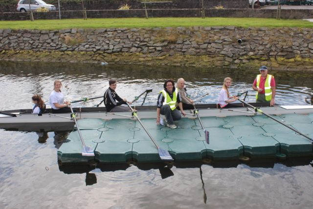 Rowing enthusiasts getting a lesson at the Tralee Rowing Club Open Day on Sunday. Photo by Dermot Crean