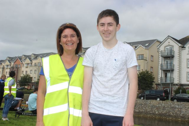 Marie Gannon and Declan Horgan at the Tralee Rowing Club Open Day on Sunday. Photo by Dermot Crean
