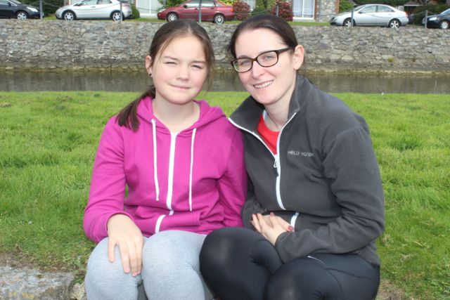 Eabha Coffey and Ciara Coakley at the Tralee Rowing Club Open Day on Sunday. Photo by Dermot Crean