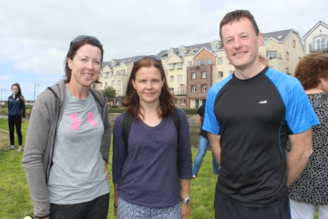 Trish Murphy, Tracy Smith and Padraig O'Connor at the Tralee Rowing Club Open Day on Sunday. Photo by Dermot Crean