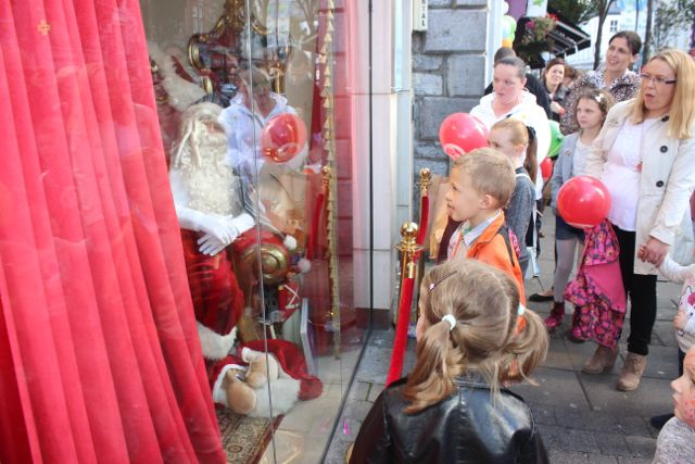 Santa makes an appearance at the launch of Santaland at CH Chemists on Saturday afternoon. Photo by Dermot Crean