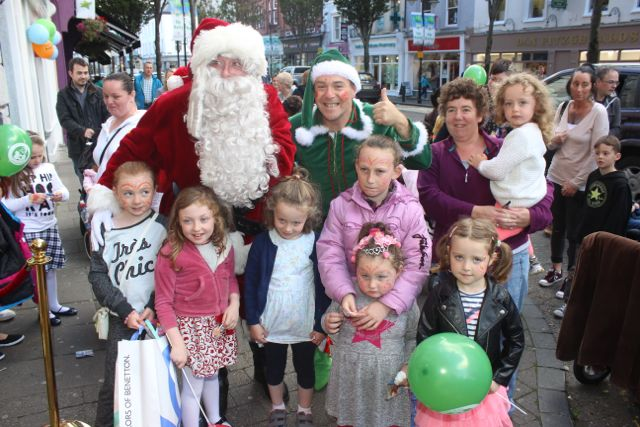 Children with Santa and Alfie Elf at the launch of Santaland at CH Chemists on Saturday afternoon. Photo by Dermot Crean