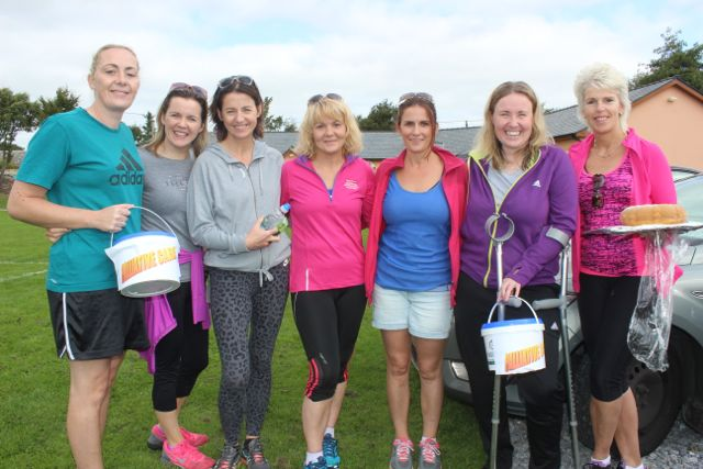 Mary Gardiner, Teresa O'Brien, Una Lynch, Brenda Doody, Therese Greaney, Andrea O'Donoghue and Caroline O'Sullivan at the St Pat's GAA family fun day on Sunday. Photo by Dermot Crean