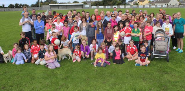 A group at the St Pat's GAA family fun day on Sunday. Photo by Dermot Crean
