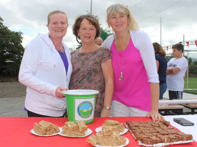 Cathy Sheehan, Cathy Hogan and Mary Wallace at the St Pat's GAA family fun day on Sunday. Photo by Dermot Crean