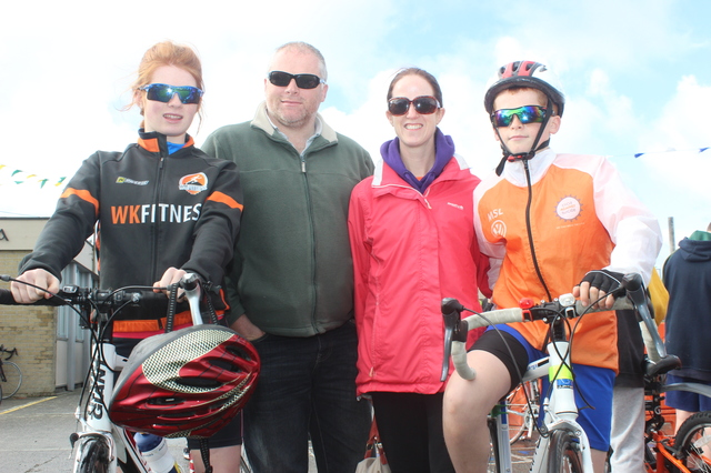 At the Ardfert Harvest Cycle were, from left: Amy, Gabriel, Claire and Sean Finn. Photo by Gavin O'Connor.