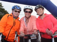 At the Ardfert Harvest Cycle were, from left: Audrey Fortune, Liz McCathy, Cecilia Lawlor. Photo by Gavin O'Connor.