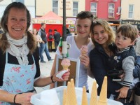 Enjoying Tralee Food Festival in town on Saturday were, from left: Eva Grafstrom, Nikita Malov, Linda and Kilills Malovra . Photo by Gavin O'Connor.