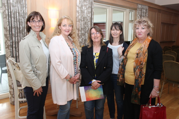 At the Kerry Buisness Women's Network Open Night on in the Ballygarry Hotel were, from left: Loranne Fleming, Sheila Martin, Finola Geary, Catherine O'Connor and Marie Ridout. Photo by Gavin O'Connor.