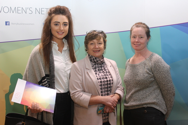 At the Kerry Buisness Women's Network Open Night on in the Ballygarry Hotel were, from left: Sinead Moriarty, Deirdre Fee and Gillian Molloy. Photo by Gavin O'Connor.