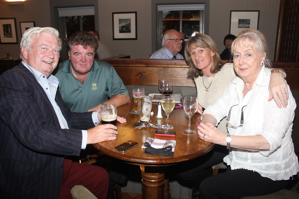 At the Tralee Bay Swimming Club social on in the Meadowlands were, from left: Frank Stevenson, Ger O'Connor, Mary Murphy and Angela Stevenson. Photo by Gavin O'Connor.