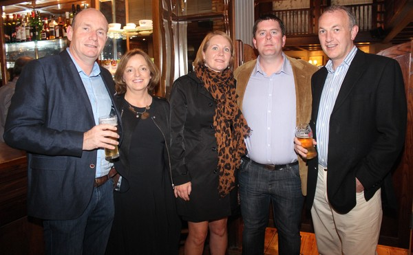 At the Tralee Bay Swimming Club social on in the Meadowlands were, from left: Patrick O'Sullivan, Sheila O'Sullivan, Rosarie Quilter, John Quilter and Martin Boyd. Photo by Gavin O'Connor.