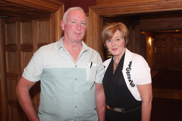 At the Tralee Bay Swimming Club social on in the Meadowlands were, from left: Kevin Williams and Anne Condon. Photo by Gavin O'Connor.