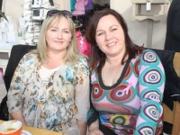 Lucelle Murphy and Martina Wadding at the Paint It Pink Fundraiser at Ballyseedy Garden Centre on Friday morning. Photo by Dermot Crean
