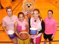 Tralee Imperials players launching 'Paint it Pink' were, from left: . Courtney Ryan, Jaunita Robayo, Rheanna O'Shea and Cassandra Buckley. Photo by Gavin O'Connor.