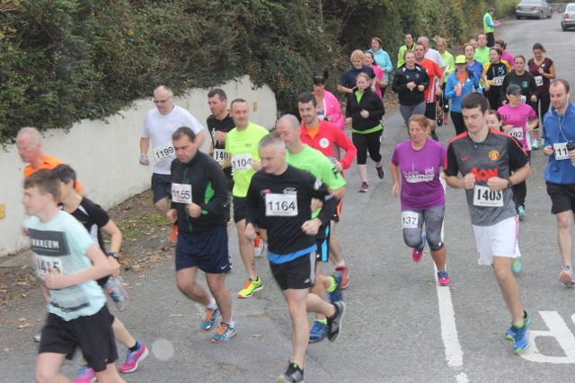 Runners taking off at the Churchill GAA 10k run on Sunday morning from the Oyster Tavern. Photo by Dermot Crean