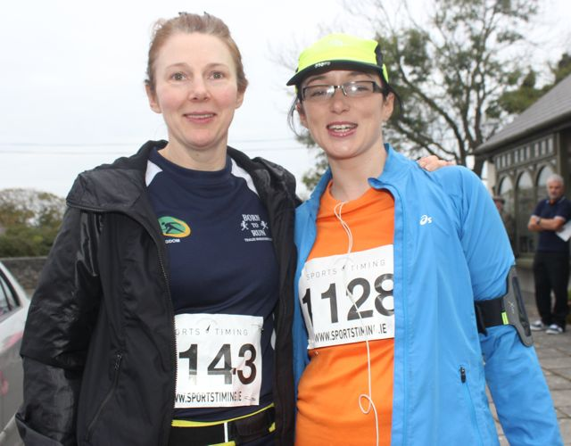 Carmel Quinn and Fiona Magee at the Churchill GAA 10k run on Sunday morning from the Oyster Tavern. Photo by Dermot Crean