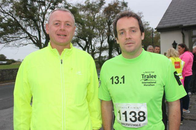 Noel Cronin and Enda O'Sullivan at the Churchill GAA 10k run on Sunday morning from the Oyster Tavern. Photo by Dermot Crean