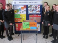 Gaelcholáiste Chiarraí Transtition Year students and their projects.