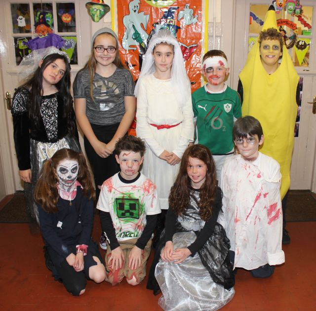 Some fourth and fifth class pupils having fun at Blennerville NS on Friday. Photo by Dermot Crean
